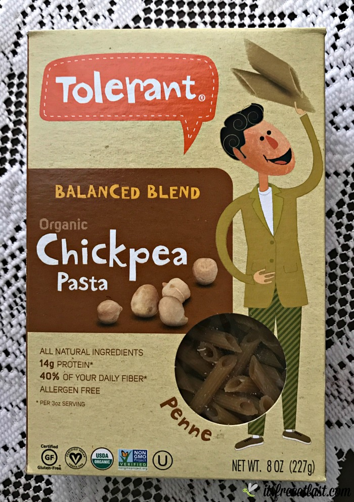 Tolerant Balanced Blend Organic Chickpea Penne