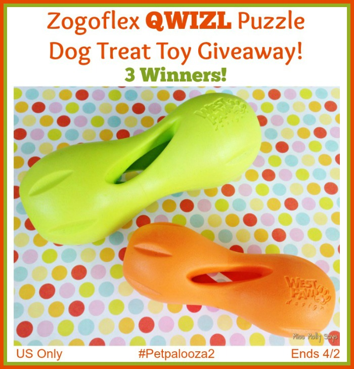 Zogoflex Qwizl Puzzle Dog Treat Toy Giveaway button