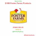 Win $100 in Foster Farms Products #FFBracketBusters #Mrsk4Fosterfarms