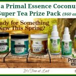 Primal Essence Coconut Oil & Organic Super Tea Prize Pack ($60 arv) Giveaway!