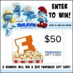 2 #Winners $50 Fandango GC to See Smurfs!