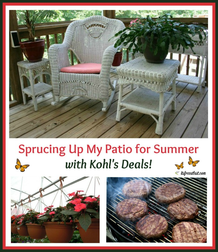 Sprucing Up My Patio for Summer with Kohl's Savings from Groupon!