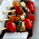 #12Dayof Picnic Ideas {Day 5} Grilled Caprese Salad on a Stick