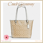 Welcome to our Coach Purse Giveaway