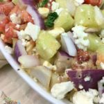 #12Daysof Picnic Ideas {Day 3} Tomato Onion Feta Salad