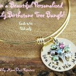 #Win Sweet Blossom Gifts Family Tree Personalized Bangle- US