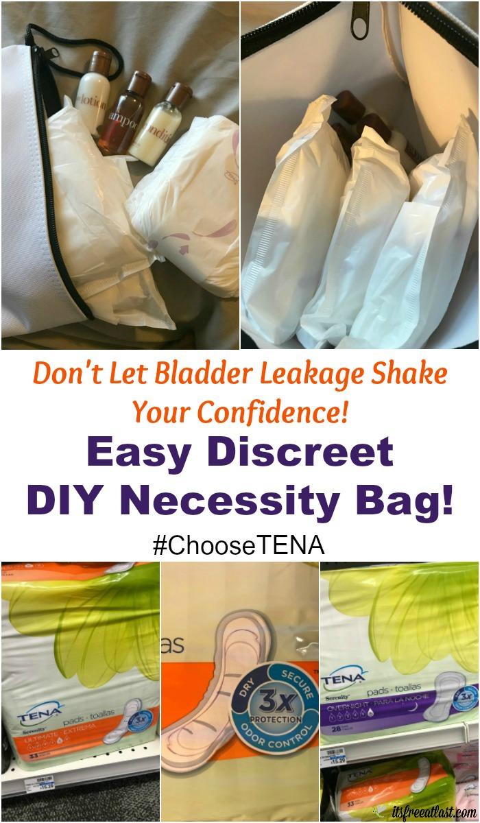 Easy DIY Necessity Bag featuring TENA® Ultimate Pads banner