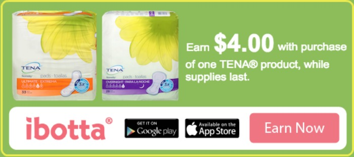 Ibotta offer - TENA® Products