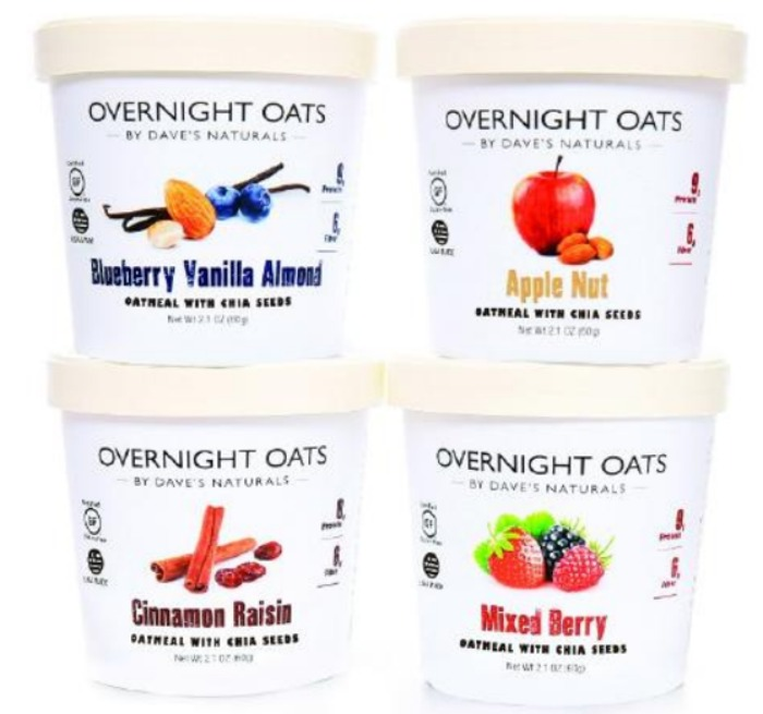 Dave's Naturals Overnight Oats