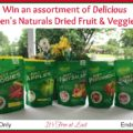 Karen's Naturals Dried Fruit & Veggies Giveaway!