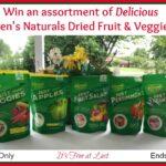 Karen's Naturals Dried Fruit & Veggies Giveaway!