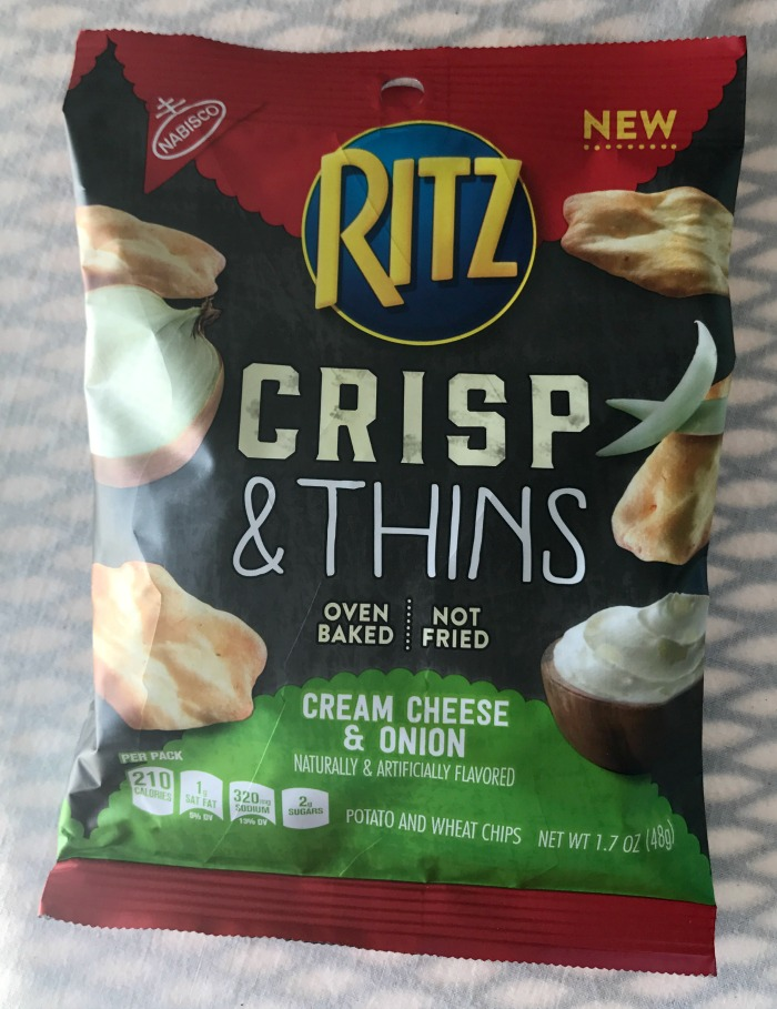 Nabisco Ritz Crisp and Thins - Cream Cheese and Onion