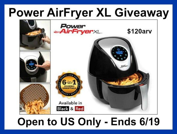 Power Air Fryer Giveaway button