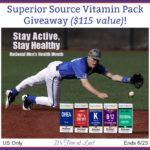 Win a Superior Source Vitamin Pack ($115 value) and Stay Active & Healthy! #SuperiorSource