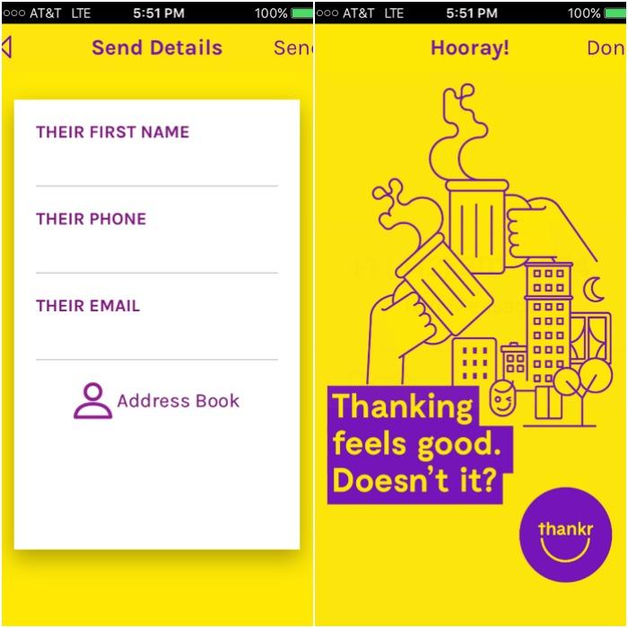Thankr app