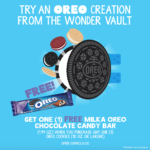 Buy OREO and get a free MILKA OREO Chocolate Candy Bar! #EnterTheWonderVault
