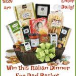 #Win Italian Dinner for Dad from #GourmetGiftBaskets $129 arv