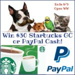 Enter to #Win $30 Starbucks Gift Card or Paypal Cash Prize