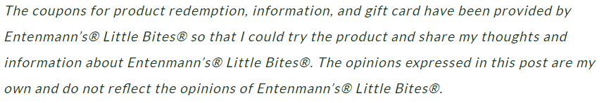 Entenmann's® Little Bites® disclosure