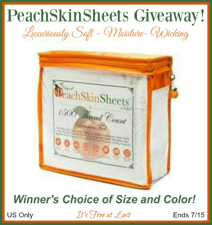 PeachSkinSheets Giveaway button