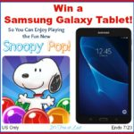 Win a Samsung Galaxy Tablet! #SnoopyPop #PopGoesTheSnoopy