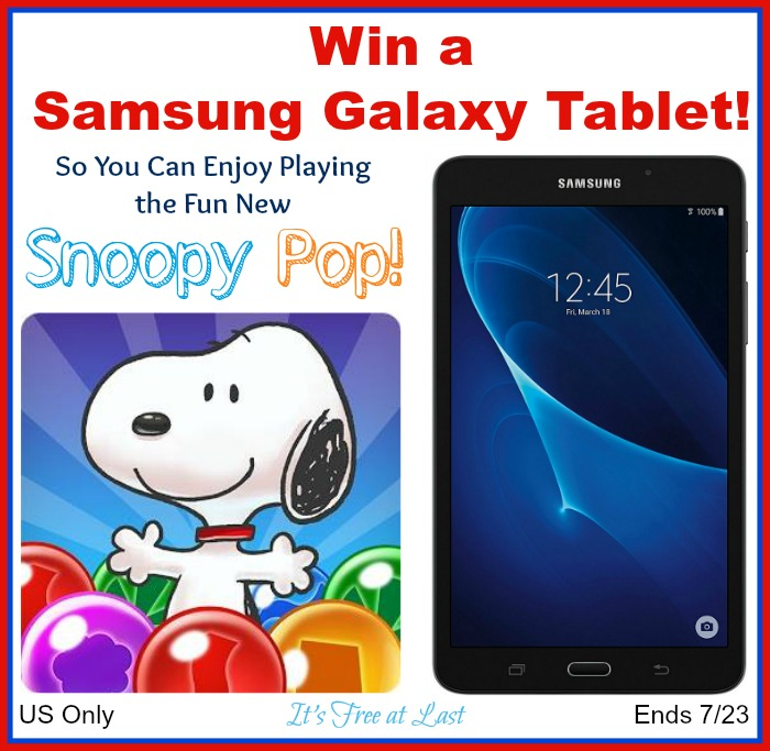 Samsung Galaxy Tablet Giveaway button