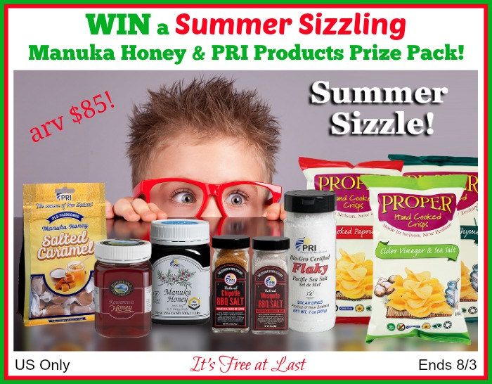 Summer Sizzling Manuka Honey - PRI Prize Pack Giveaway button