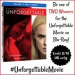 Two #Winners for Unforgettable Movie on Blu-ray #Unforgettablemovie