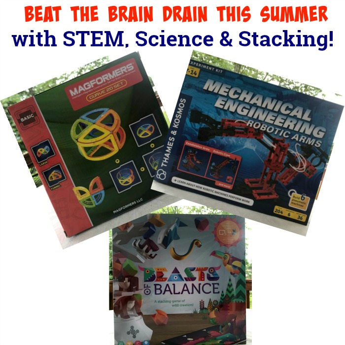 Beat the Brain Drain this Summer with STEM, Science & Stacking