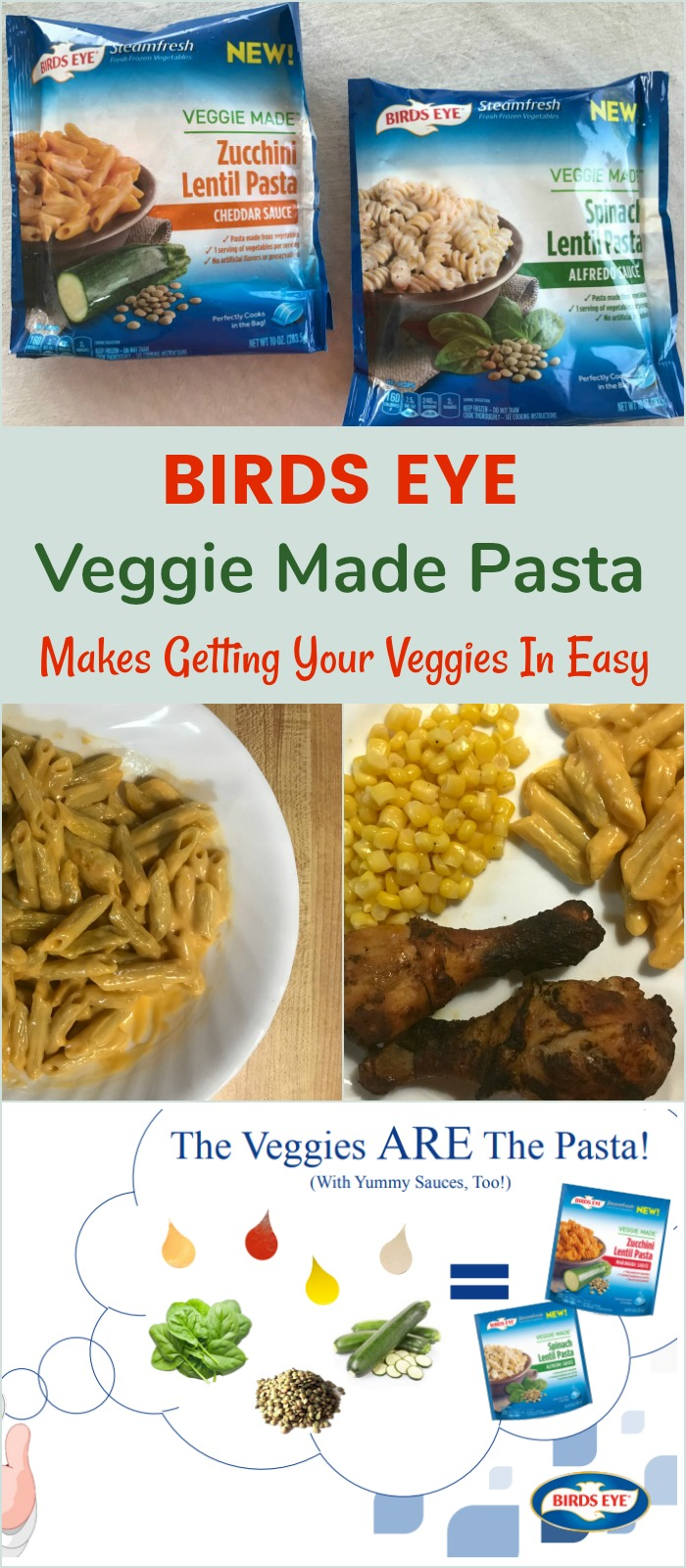 Birds Eye Veggie Made Pasta Makes Getting Your Veggies In Easy #SoVeggieGood #BirdsEyeVegetables