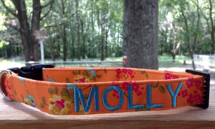 Dog Collar World Custom Embroidered Dog Collars