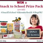 PRI Snack to School Prize Pack (arv $45) Giveaway! #SnackToSchool #ManukaHealth #ShopPRI