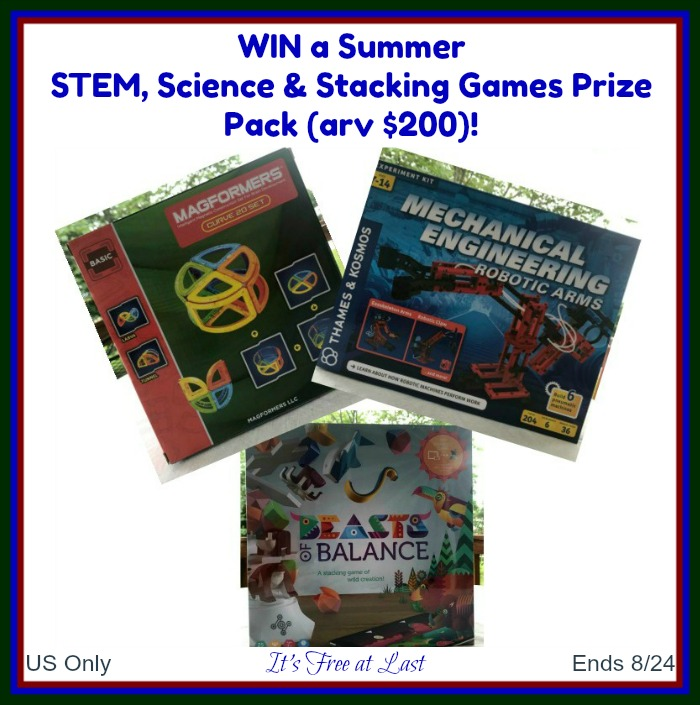 Summer STEM, Science & Stacking Games Prize Pack Giveaway button