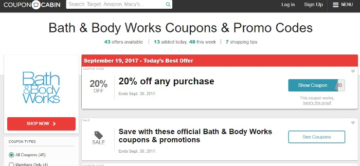 Bath and Body Works Promo Codes are Easy to Find on