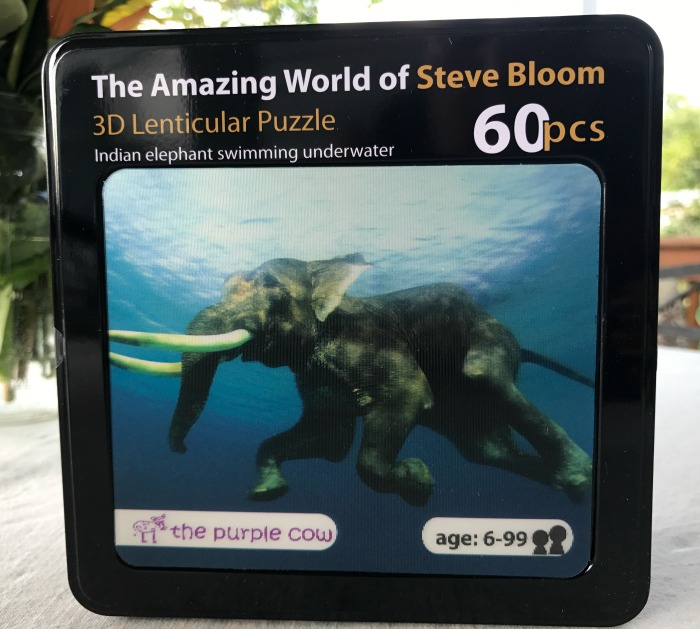The Amazing World of Steve Bloom 3D Lenticular Puzzle - All Things Elephant for Kids