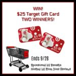 #Win 1 of 2 $25 Gift Cards to Target