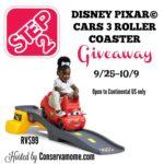 Enter to #Win a Step2 Disney Pixar Cars 3 Roller Coaster