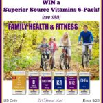 Superior Source Vitamins 6-Pack (arv $80) Giveaway! #SuperiorSource
