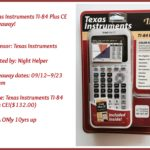 Texas Instruments TI-84 Plus CE Giveaway