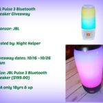 JBL Pulse 3 Bluetooth Speaker Giveaway