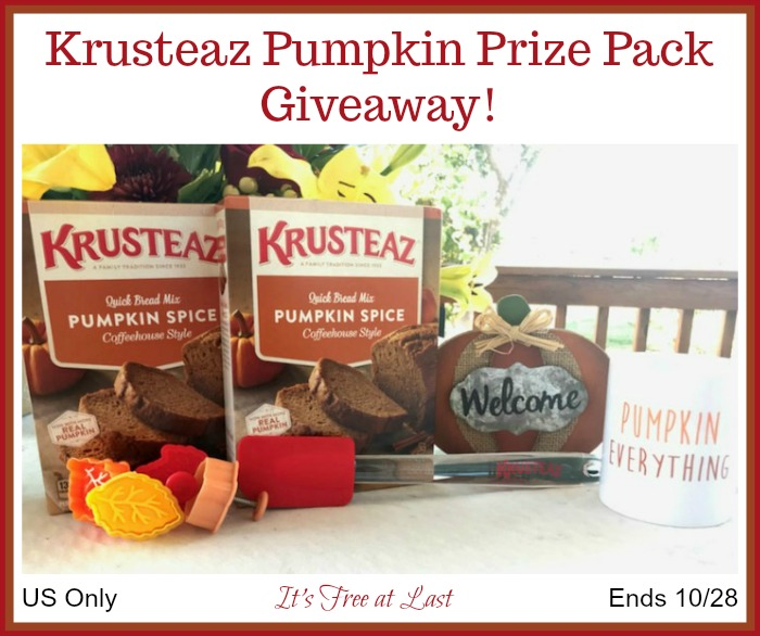 Krusteaz Pumpkin Prize Pack Giveaway button