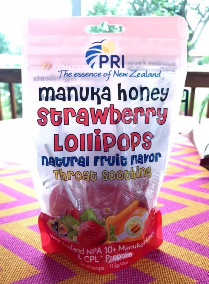 Manuka Honey Strawberry Lollipops