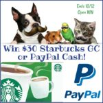 #Win $30 Starbucks GC or PayPal Cash!
