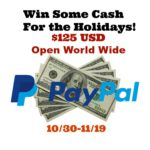 Holiday Cash Giveaway – #Win $125 Paypal Cash
