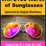 Win $100 worth of Sunglasses From Sunglass Warehouse #Giveaway ends 10/19