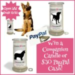 #Win a Companion Candle or $30 PayPal Cash