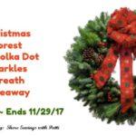 20″ Polka Dot Sparkles Christmas Wreath Giveaway