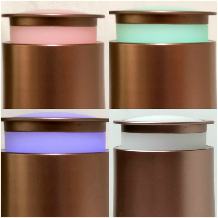 GuruNanda Rosegold Oil Diffuser color LED light