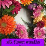 Silk flower wreath from Silk Plants Direct #MegaChristmas17