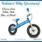 Balance Bike Giveaway!